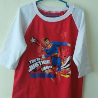 ¾ superman shirt 4to5