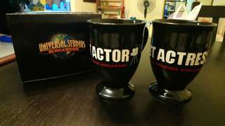 Best Actor & Actress Cups from Universal Studio Singapore