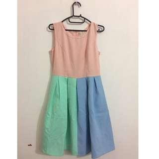 Mixed Color Dress