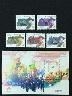 世界童軍運動成立一百周年型張+票