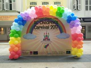 Balloon arch for family day