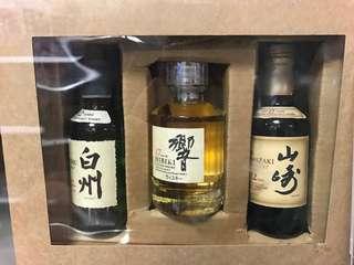 三款都已停產 日本威士忌 山崎12 / 響17 / 白州12 gift set 絕版 珍藏 飲一支少一支 Japanese Whisky Set Hibiki Yamazaki Hakushu