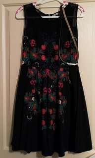 Dress + belt (size 10)