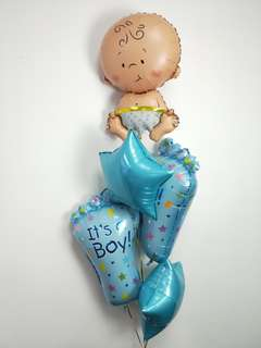 Baby shower balloon bouquet
