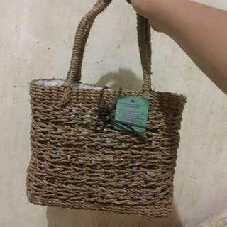 (Repriced) Medium abaca hand bag