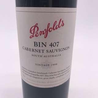 1999 Penfolds Bin 407 Cabernet Sauvignon
