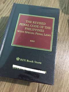 The Revised Penal Code of the Phil w/ Special Penal Laws RBSI 2016