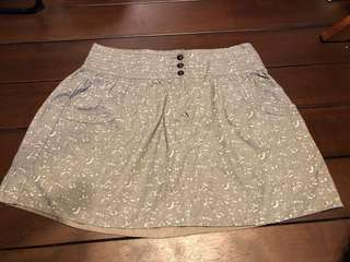 Mango casual floral grey skirt
