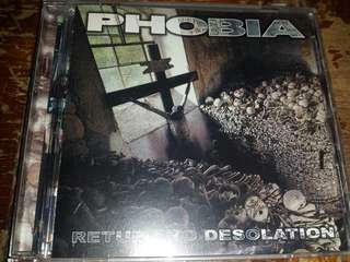 Music CD: Phobia – Return To Desolation - Grindcore