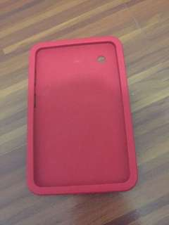 7 inch red silicon tablet case