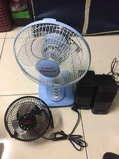 2 Electric fan 1 speaker