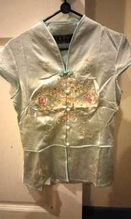 Brand New Cheongsam top M size. Beautiful emboidery.
