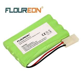 FLOUREON 9.6V 1800mAh 8 Cell Ni-MH Rechargeable Replacement RC Battery Pack with Tamiya Connector for RC Cars Boat Robot Security