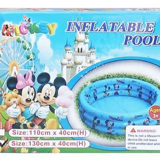 Kolam Renang Anak INFLATABLE POOL MICKEY 130CM