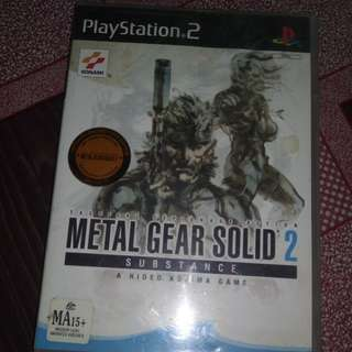 Ps2 PAL metal gear solid 2