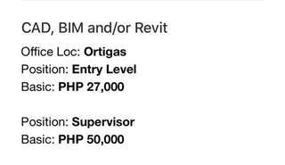 CAD, BIM and/or Revit