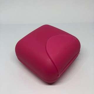 Dark Pink Small Travel Soap Holder / Case / Box