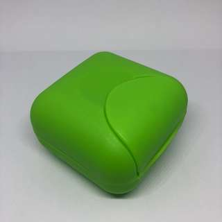 Green Small Travel Soap Holder / Case / Box