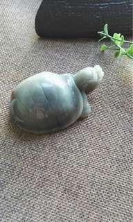 和田玉青花籽料神龟