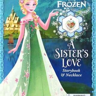 Buku Anak DISNEY FROZEN A SISTERS LOVE STORYBOOK & NECKLACE
