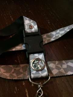 Starbucks lanyard preloved