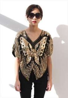 FESTIVAL SEQUIN BUTTERFLY TOP