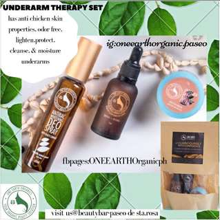 Underarm therapy set(deospray,whitening cream& serum)