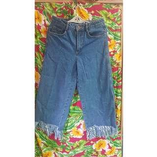 Zara Mom Hem Jeans
