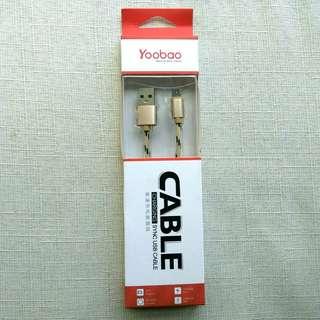 羽博高速充電線數據線 Micro USB cable Android 手機 Yoobao