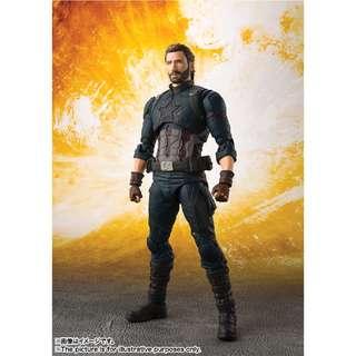 5月新貨!魂限定!全新未開封 日版 Bandai S.H.Figuarts SHF 美國隊長 Captain America 復仇者聯盟 Avengers Infinity War Marvel