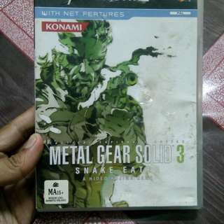 Ps2 PAL metal gear solid 3