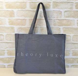 Theory Luxe Signature Grey Tote