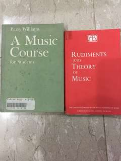 Piano Books music rudiments and theory of music/A Music Course for students parry williams