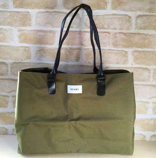 BEAMS Army Green Large Bag