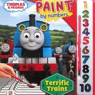 Mainan Kereta Api THOMAS AND FRIENDS PAINT BY NUMBERS TERRIFIC TRAINS (RED)