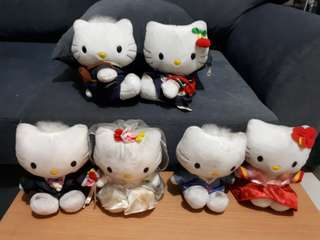 Pre-loved Hello Kitty and Dear Daniel stuffed toys