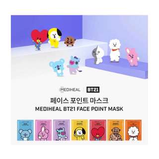 BT21xMEDIHEAL FACE POINT MASK