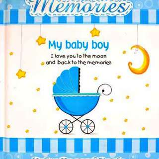Buku Anak MEMORIES MY BABY BOY - BABY RECORD BOOK (BLUE)