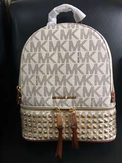 Michael Kors Logo Stud Backpack