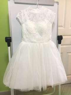 【平放靚裙📣】婚紗/伴娘禮服/姊妹裙,純白色傘裙輕巧可愛❤️
