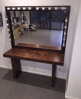 Huge makeup Hollywood mirror/ dressing table