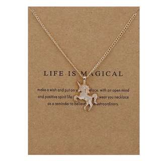 Life is Magical Gold Tone Necklace
