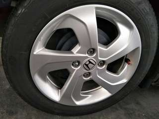 Sport rim Honda city 4 cps with tyres
