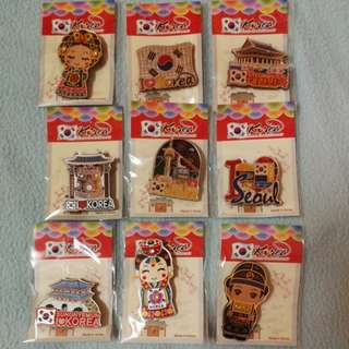KOREA Fridge Magnet (9 pcs in set)