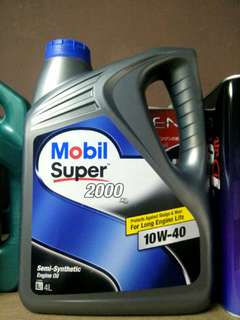 Mobil Super 2000 engine oil
