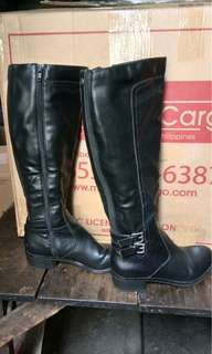 Cathy Jeans Black High boots