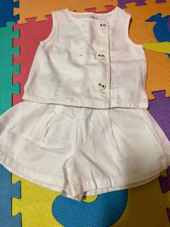 Gingersnaps Tiny White Blouse and Shorts