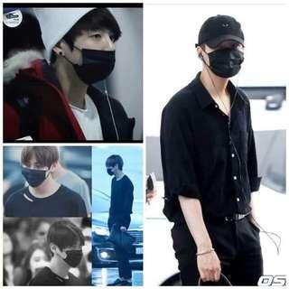 Kpop Black Diaposable Mask
