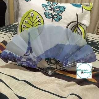 blue london mountain paris plastic fan