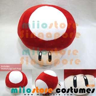 Rent Mario / Luigi Mushroom Toad Soft Photobooth DND Props Accessories